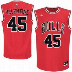 2016 Draft Pick Chicago Bulls  45 Denzel Valentine Red Road Swingman Jersey 90267a7c7