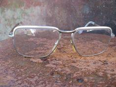 faf119afe6ca Mens Classic Vintage Eyeglasses. French 1980s Stevan ALF gold heavy frames