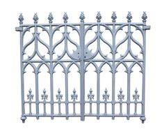 PAIR OF FINE VICTORIAN GOTHIC REVIVAL CAST IRON GATES - UK Architectural Heritage