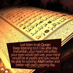 Listen to Quran Quran Verses, Quran Quotes, Hindi Quotes, Qoutes, Islamic Inspirational Quotes, Islamic Quotes, Islamic Art, Inspiring Quotes, Listen To Quran