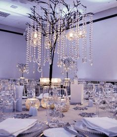 All about Centerpieces . Bling Wedding, Crystal Wedding, Our Wedding, Dream Wedding, Shabby Chic Centerpieces, Wedding Centerpieces, Centerpiece Ideas, Starry Wedding, 25th Wedding Anniversary