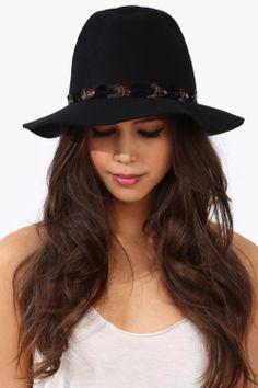 Boho chic wide brim hat