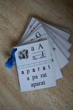 nauka przez zabawę, nauka literek, alfabet, karty z alfabetem, karty z literkami