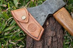 A great looking hand made  Axe cover - LeatherWork by Nessmuk51, via Flickr