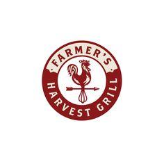 For Sale—Farmer's Harvest Grill Rooster Logo Design - Logo Cowboy Resturant Logo, Restaurant Logo Design, Woodworking Logo, Woodworking Projects Plans, Woodworking Jointer, Harvest Grill, Rooster Logo, Grill Logo, New Business Ideas