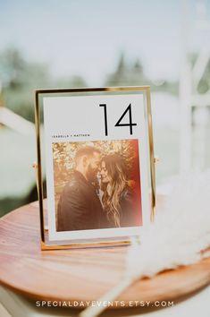 Wedding Photo Table, Diy Wedding Table Numbers, Wedding Decorations, Wedding Table Markers, Fall Wedding, Wedding Reception, Dream Wedding, Wedding Ideas, Wedding Tables