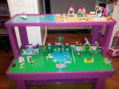 Lego Heartlake Table - click on photo to see how we built it and other Lego table options.