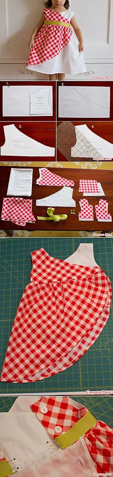 Original dress for baby - Patterns of children's clothing - Country Mom