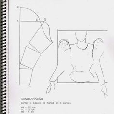 Techniques Couture, Sewing Techniques, Dress Sewing Patterns, Clothing Patterns, Sewing Clothes, Diy Clothes, Textile Manipulation, Sewing Sleeves, Modelista