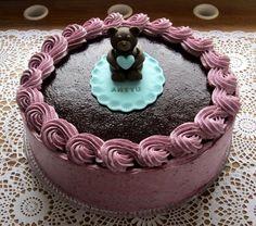 Herkkuja leipomassa: Mustikkainen sitruunamoussetäytekakku/ Cake With L...