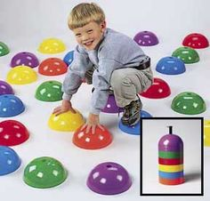 Stepping Domes for Kids - Playtime Activity Constructive Playthings Gross Motor Activities, Gross Motor Skills, Activities For Kids, Indoor Activities, Sensory Activities, Indoor Recess, Indoor Outdoor, Indoor Gym, Outdoor Play