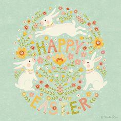 Happy Easter, everyone! #Easter #Bunnies #artlicensing #artwork #illustration