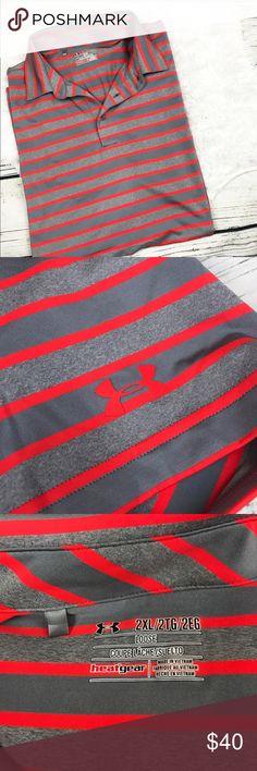 Under Armour Men's Stripe Bright Size 2XL Polo Size 2XL Excellent condition Under Armour Shirts Polos