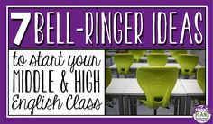 If you asked me what teaching resource I could not live without, I would 100% say bell-ringers!  They absolutely transformed the first 5-10 minutes of chaos in my classroom and also engage my students in thoughtful discussion, reflective writing, and new learning. Below are my 7 favorite ways to start my English classes with bell-ringers.