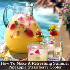 How To Make A Refreshing Summer Pineapple Strawberry Cooler