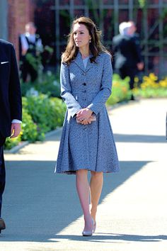 The Duchess of Cambridge arrives to open The Magic Garden at Hampton Court Palace on May 4, 2016.
