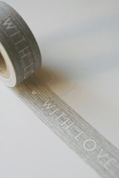 'With Love' Grey Paper Tape 10m