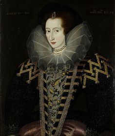 Portrait of Mary Rodgers, Lady Harrington, circa 1577. Mary was the second wife of Queen Elizabeth I's godson, Sir John Harrington, who is credited as the inventor of the flush toilet in England.