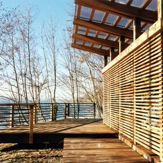 Horizontal Wood Slats And Stone Design Ideas, Pictures, Remodel and Decor