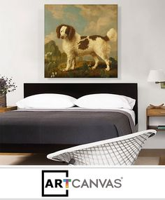 Ready-to-hang Brown and White Norfolk - Water Spaniel 1778 Canvas Art Print for Sale canvas art print for sale. Art Prints For Sale, Norfolk, Canvas Art Prints, Brown, Water, Home Decor, Gripe Water, Decoration Home, Room Decor