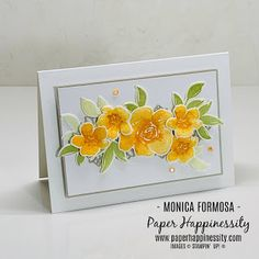 Small Flowers, My Flower, All Things Fabulous, All Paper, Craft Activities, Stampin Up Cards, Light In The Dark, Card Stock, Embellishments