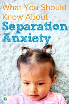 Does your child cling on to you and refuse to let go? Separation anxiety happens with many kids. From infants to toddlers and beyond, here's what you should know about separation anxiety.