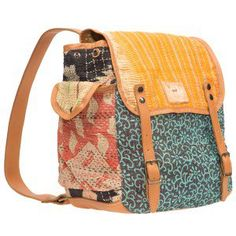 Kantha Quilted Backpack/Crossbody