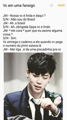 Read Jimin - Me liga! from the story Imagines - BTS by (❤ Uma Army Iludida ❤) with reads. bts, jimin, j-hope. Me iludindo ao nível Jimin. Jimin, Bts Jin, Bts Bangtan Boy, Foto Bts, K Pop, Fanfic Kpop, Fanfiction, Text Imagines, Bts Imagine