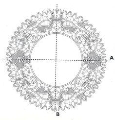 Romanian point lace crochet pattern Crochet Cord, Crochet Needles, Crochet Motif, Patron Crochet, Irish Crochet, Needle Lace, Bobbin Lace, Lace Patterns, Crochet Patterns