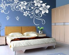 Floral Wall Decals Stickers for Nursery, Kids, Childrens Room Removable Wall Mural 40137