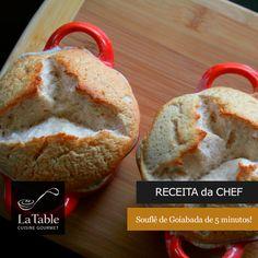 Souflê de Goiabada de 5 minutos – Receita da Chef
