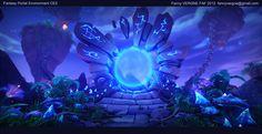D - Cry Engine Fanny Vergne : Portal Environment - Cry Engine 3 by Fanny Vergne on ArtStation. Landscape Concept, Fantasy Landscape, Portal Art, Steampunk, Dark Art Drawings, Beautiful Fantasy Art, Game Character Design, Environment Design, Game Environment
