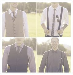 The grooms men and best men outfits at the wedding
