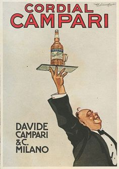 Vintage 1920 Cordial Campari Advertisement by Luigi Caldanzano Framed Art Print by JA(c)anpaul Ferro - Vector Black - MEDIUM (Gall Vintage Italian Posters, Pub Vintage, Vintage Labels, Vintage Italy, 1920s Advertisements, Vintage Advertising Posters, Food Graphic Design, Vintage Graphic Design, Old Posters