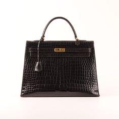 Hermès Kelly 35 Croco Black