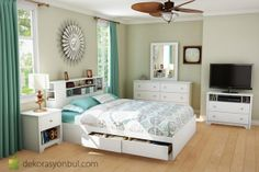 beyaz yatak odası takımı modelleri