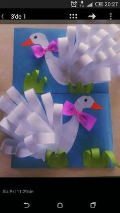 Swan craft for kids. - Bird Crafts for Kids Kids Crafts, Summer Crafts, Easter Crafts, Projects For Kids, Diy For Kids, Diy And Crafts, Craft Projects, Arts And Crafts, Art N Craft