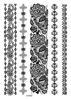Waterproof Temporary Tattoo Sticker sexy lace flowers stocking tatto stickers henna flash tatoo fake tattoos for girl women 27 Moños Tattoo, Tattoo Band, Fake Tattoo, Tattoo Bracelet, Big Tattoo, Armband Tattoos, Wrist Tattoos, Girl Tattoos, Tattoos For Women