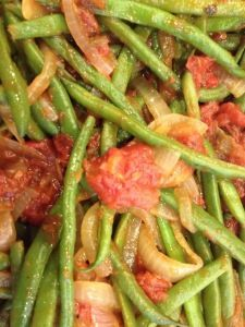 Down Home Green Beans and Stewed Tomatoes