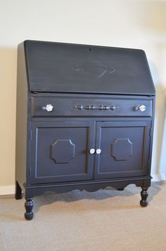 Antique secretary or slant front desk. By Mastercaft furniture co.