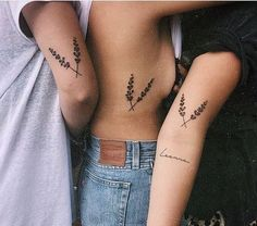 42 Coolest Matching BFF Tattoos That Prove Your Friendship Is Forever Mini Tattoos, Body Art Tattoos, Small Tattoos, Petite Tattoos, Flower Tattoos, Sibling Tattoos, Sister Tattoos, Small Best Friend Tattoos, Group Tattoos