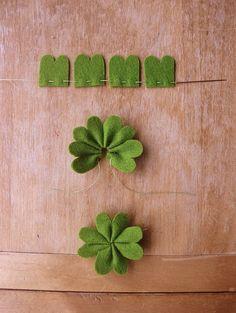 St. Patrick's Day Felt Clovers