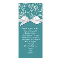 Planning the perfect wedding? Make your big day even more special with Zazzle's amazing selection of Elegant wedding menu cards. Find your perfect wedding menus today!