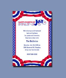4th of July Swag Invitations