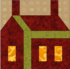 Patchwork en Casa - Patchwork with Love: Bloque de la Semana: Casa en Paper Piecing
