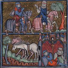 BeineckeMS.229 Arthurian Romancess (1275-1300) Yale University
