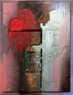 "Saatchi Art Artist Cliff Kearns; Collage, ""IMAGE #42 - Has A Red Patch"" #art"