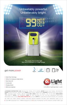 World's first double sided LED emergency light that runs for non-stop 99 hours!!
