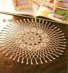 Delicadezas en crochet Gabriela: Carpeta ganchillo esquema