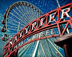 Chicago Photography Ferris Wheel Chicago Navy Pier by PhotobyVlad, $35.00
